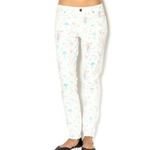Sanctuary Floral Whisper Mid Rise Skinny Jeans